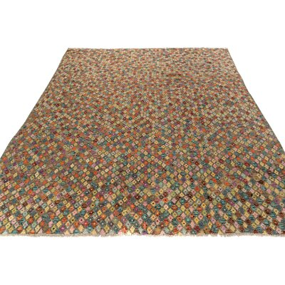 One-of-a-Kind Bakerstown Kilim Hand-Woven Gray/Orange Area Rug