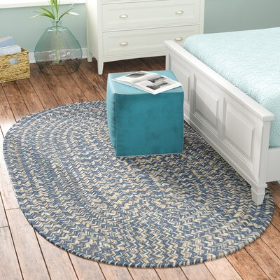Maleah Denim Area Rug Rug Size: Oval 2 x 3