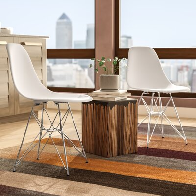 Rafael Contemporary Side Chair Upholstery: White