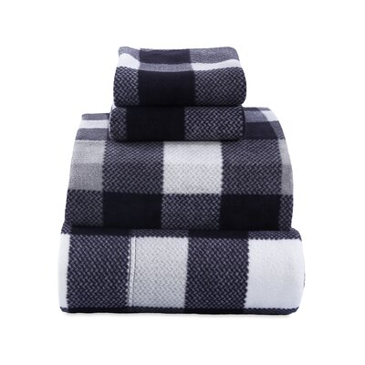 Cabin Plaid Microfleece Sheet Set Size: Queen