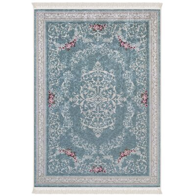 Upper Swainswick Teal Area Rug