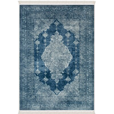 Polzin Blue Area Rug