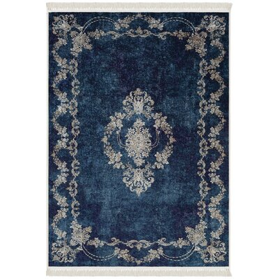 Fontanez Blue Area Rug