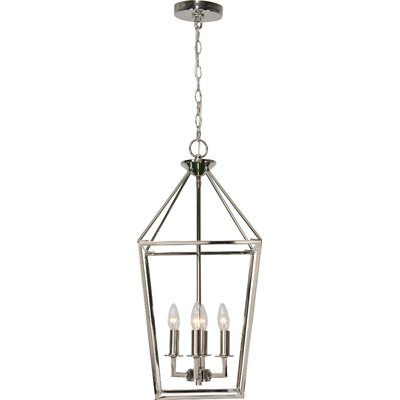 Mcray 4-Light Foyer Pendant Finish: Polished Nickel, Size: 86.3 H x 12 W x 12 D