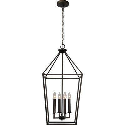 Mcray 4-Light Foyer Pendant Finish: Graphite Bronze, Size: 92.8 H x 15.8 W x 15.8 D