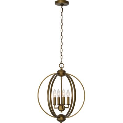 Mcveigh 4-Light Candle-Style Chandelier