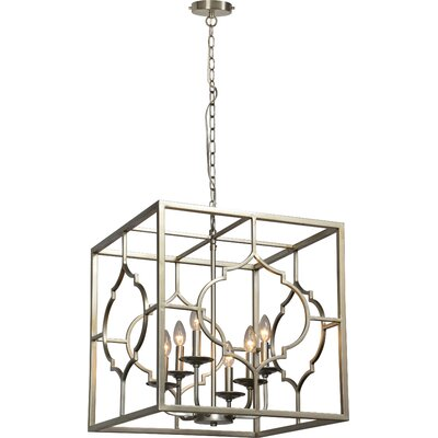 Napolitano 6-Light Drum Pendant Size: 95