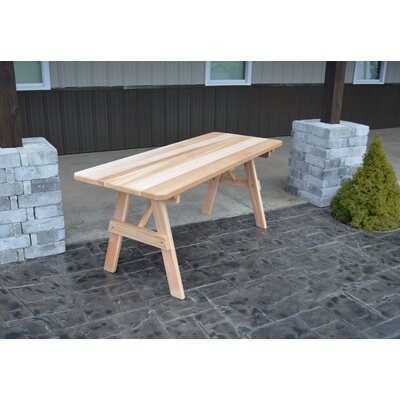 "Traditional Wooden Picnic Table Color: Unfinished, Table Top Size: 30"" H X 94"" W X 27"" D, Umbrella Hole: Yes"