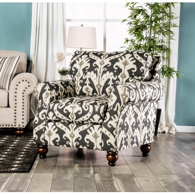 Primavera Armchair Upholstery: Black/White