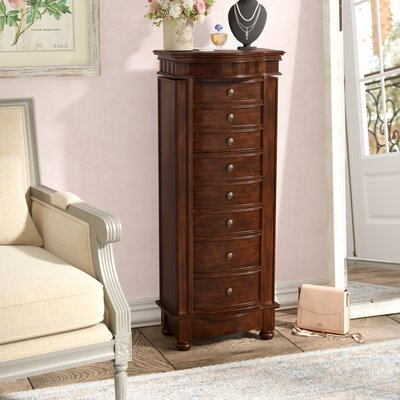 Riverton Eight Drawer Jewelry Armoire Color: Coffee Brown