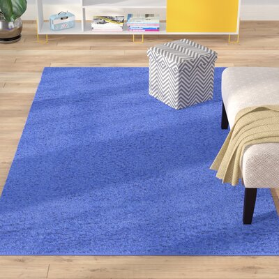 Madison Periwinkle Blue Area Rug Rug Size: Round 6