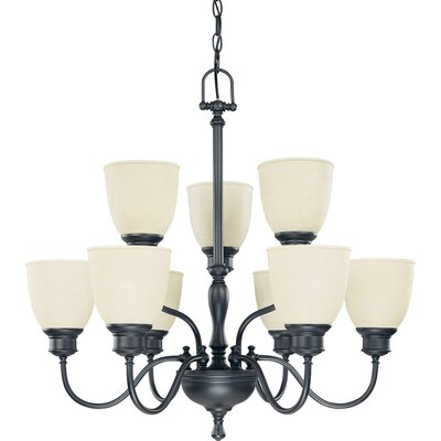 Kaelin 9-Light Candle Style Chandelier Finish: Aged Bronze