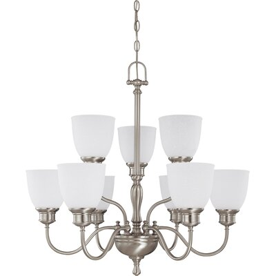 Kaelin 9-Light Candle Style Chandelier Finish: Brushed Nickel