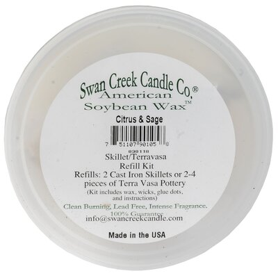 Refill Citrus and Sage Scented Jar Candle 90105