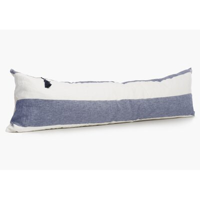 Bethzy Linen Lumbar Pillow Color: Blue
