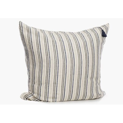 Rhinecliff Linen Throw Pillow Color: Navy/Black