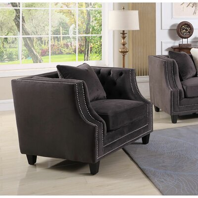 Jeffers Upholstered Armchair Finish: Grey
