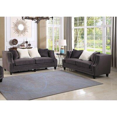 Jardine 2 Pieces Living Room Set Color: Gray