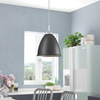 Cherrelle 1-Light Inverted Pendant Finish: Graphite, Size: 13.25 H x 10 W x 10 D