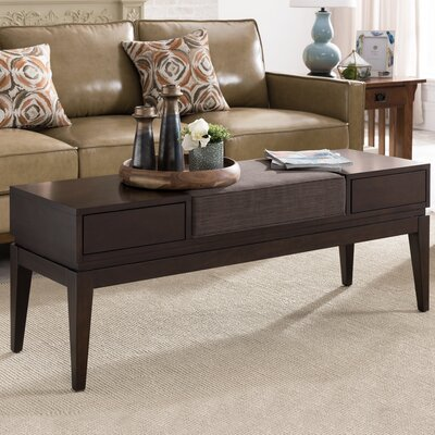 Crandell 2 Drawer Coffee Table with Storage