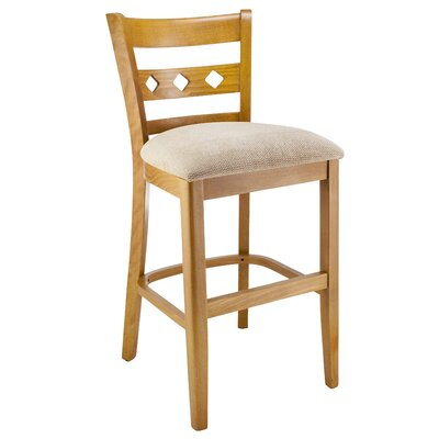 Yablonski 24 Bar Stool Color: Natural