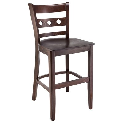 Ewell 24 Bar Stool Color: Walnut