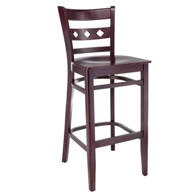 Ewell 30 Bar Stool Color: Dark Mahogany