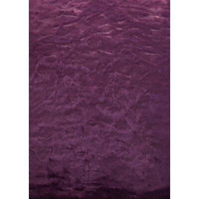 Tennyson Faux Fur Dark Purple Area Rug