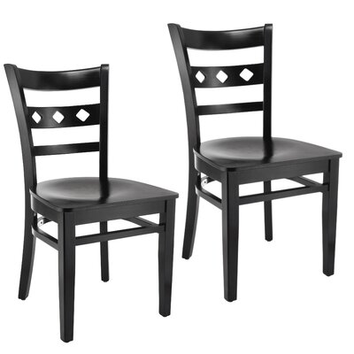 Ewell Solid Wood Dining Chair (Set of 2) Color: Espresso