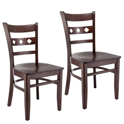 Ewell Solid Wood Dining Chair (Set of 2) Color: Walnut