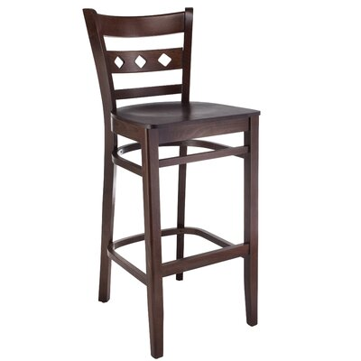 Ewell 30 Bar Stool Color: Walnut