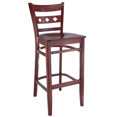 Ewell 30 Bar Stool Color: Mahogany