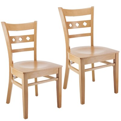 Ewell Solid Wood Dining Chair (Set of 2) Color: Natural