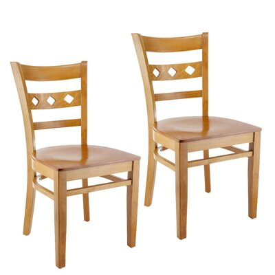 Ewell Solid Wood Dining Chair (Set of 2) Color: Cherry