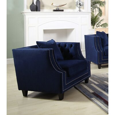 Jeffers Upholstered Armchair Finish: Blue