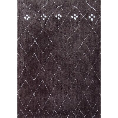 Dellinger Hand-Tufted Brown Area Rug