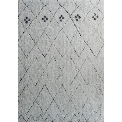Dellinger Hand-Tufted White Area Rug