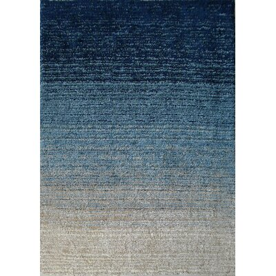 East Harptree Hand-Tufted Blue Area Rug