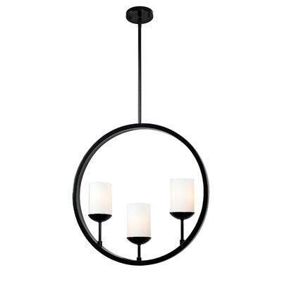 Gerardo Eclipse 3-Light Shaded Chandelier