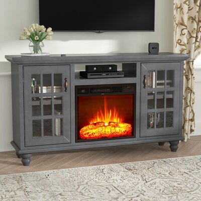 Blackwell Modern Country 65 TV Stand with Fireplace Finish: Bright White