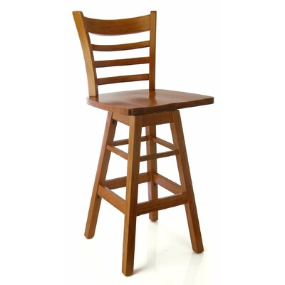 Jobe 30 Swivel Bar Stool Color: Cherry
