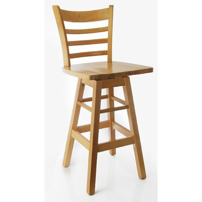 Jobe 30 Swivel Bar Stool Color: Natural