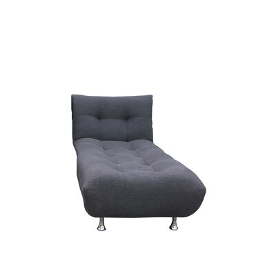 Sorrento Chaise Lounge Upholstery: Black