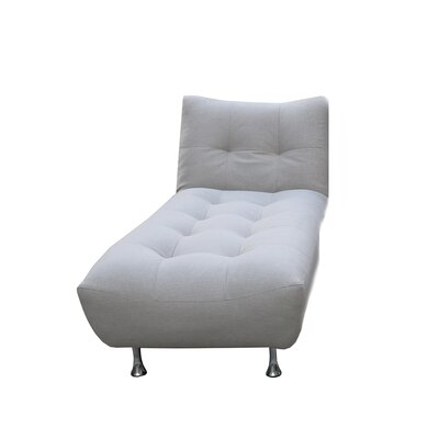 Sorrento Chaise Lounge Upholstery: White