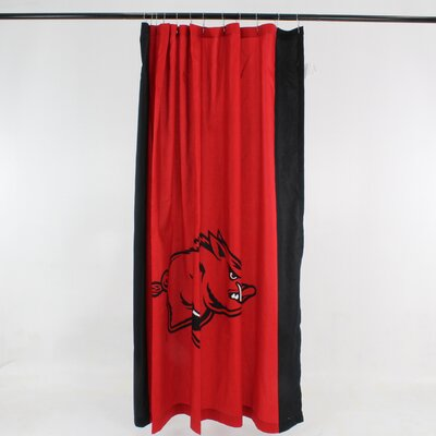 NCAA Cotton Shower Curtain NCAA: Arkansas Razorbacks