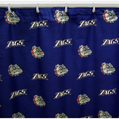 NCAA Cotton Shower Curtain NCAA: Gonzaga Bulldogs