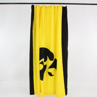 NCAA Cotton Shower Curtain NCAA: Iowa Hawkeyes