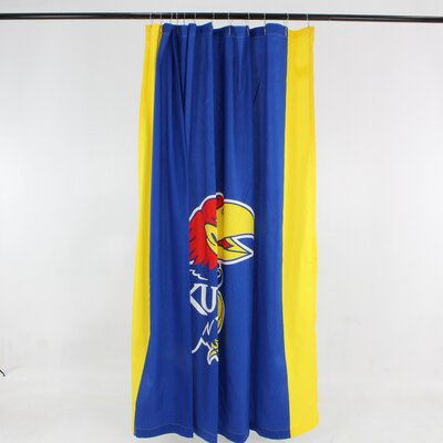 NCAA Cotton Shower Curtain NCAA: Kansas Jayhawks