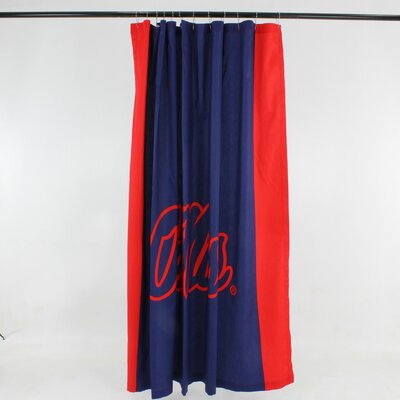 NCAA Cotton Shower Curtain NCAA: Ole Miss Rebels