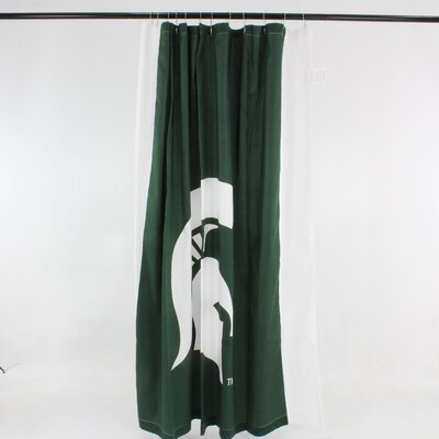 NCAA Cotton Shower Curtain NCAA: Michigan State Spartans